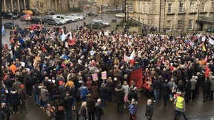 Rally organised by campaigners
