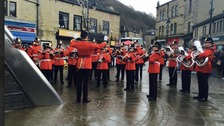 Yorkshire Regiment Band brings colour and cheer