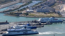 P&O ferry at Calais port