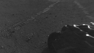 Curiosity's front and rear Hazcams have fisheye lenses for enabling the rover to see a wide swathe of terrain