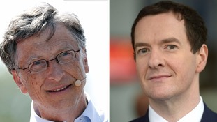 Bill Gates and George Osborne