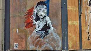 New Banksy work at French embassy in London attacks 'use of tear gas' on refugees in Calais
