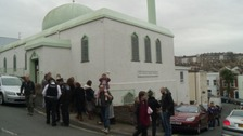 Jamia Mosque saw a steady stream of people flood through its doors