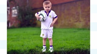 Four-year old dreams of playing for England after operation