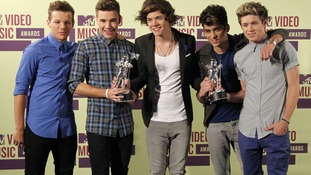 One Direction beat Justin Bieber and Rihanna to three MTV VMA awards