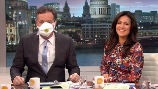 Under-the-weather Susanna Reid's GMB colleagues wear face masks on air to avoid her germs