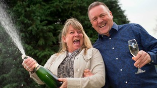 Nightshift care worker celebrates £3m lottery win