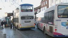 Bus companies could be forced to change their routes in Colchester if they don't reduce exhaust fumes.