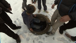 The sewers have become home to some of Romanian's poorest children.