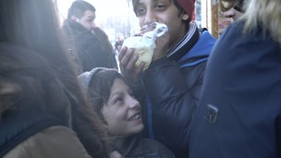 Children as young as seven openly inhale drugs on the street.