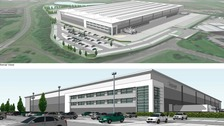 Artist's impressions of the proposed major distribution facility