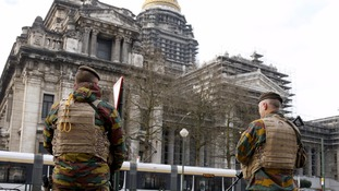 Belgian soldiers in Brussels