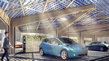 Design of the new electric car charging stations.