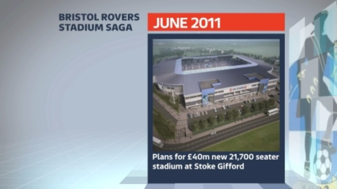June 2011: plans are revealed for a new £40 million stadium in Stoke Gifford.