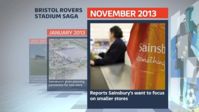 November 2013: Reports that Sainsbury's may be changing their plans.