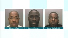 The three were jailed for almost thirty years