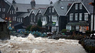 Glenridding was flooded three times in a fortnight.