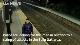 Police are renewing an appeal to find a man suspected of attacking a student at Selly Oak rail station.