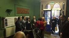 Prince Charles meets staff
