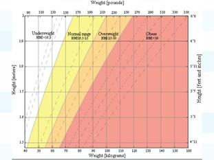 A BMI chart
