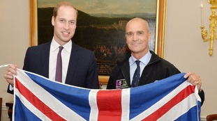 The Duke of Cambridge with the former Army officer Henry Worsley