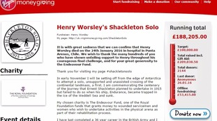 Henry Worsley's fundraising page