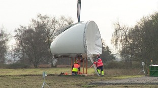The turbine in Sandy will be 100 metres tall and provide the equivalent of half of the electricity used by the RSPB each year.