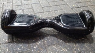 A hoverboard like the one the Massey's had.