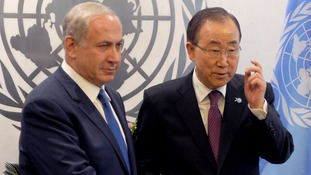 Benjamin Netanyahu accuses UN chief Ban Ki-moon of 'encouraging terror'