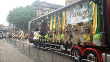 A lorry representing the Preston Caribbean Carnival