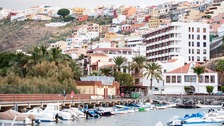 General View of San Sebastian de La Gomera from the marina on the island of La Gomera before the start of the Talisker Atlantic Challenge 2015 in the Canary Islands.