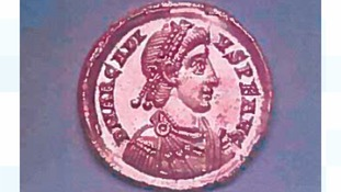 One of the rare Roman coins stolen in Essex
