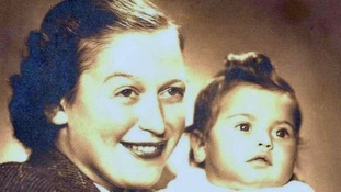 Eva and her mother Anka, in 1945