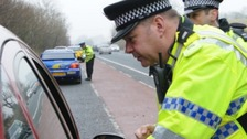 Cumbria Police stopping drivers