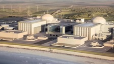 An artist's impression of the new nuclear power station at Hinkley Point