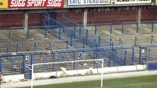 Some of the pens at the Leppings Lane end at Hillsborough Stadium in 1989