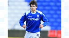Diego Fabbrini playing for Birmingham City in April 2015