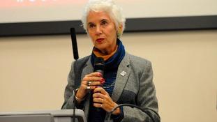 Holocaust survivor Eva Clarke talking at Northumbria University