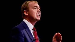 Tim Farron speaks against government's funding package