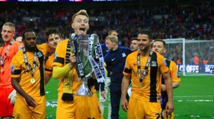 Joe Pigott will spend the rest of the season at Luton Town.