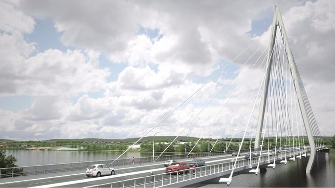 Artist's impression of new bridge