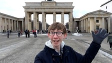 Jordon poses for a selfie in Berlin.