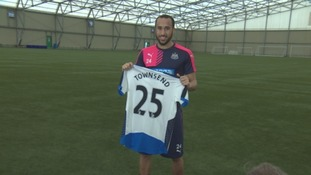 Andros Townsend shows off his new strip.