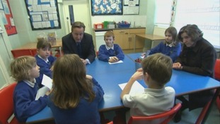 Prime Minister speaks to school children and business owners