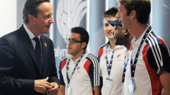 Prime Minister David Cameron meets ParalympicsGB athletes 