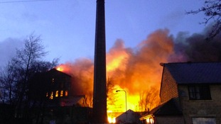 In Pictures: Mill fire blazes in Bradford