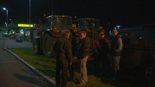 In previous protests dairy farmers have blockaded supermarkets.