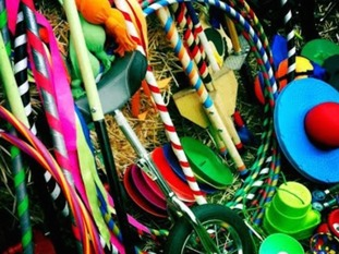 Visitors can try their hands at hula-hooping and juggling