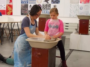 All visitors will get to have a go behind the potter's wheel