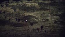 Refugees on hilltop
